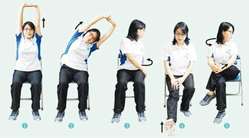 【有片:運動消閒】久坐腰背痛 椅上五式舒肌