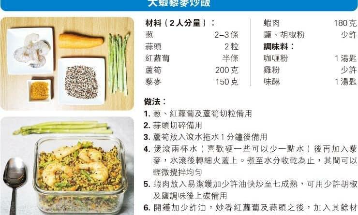 【營養要識】煮得Smart:藜麥低脂易煮 帶飯族新選擇