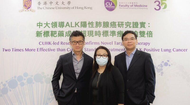 【了解肺癌】中大研究:ALK陽性肺腺癌 二線藥療效勝一線