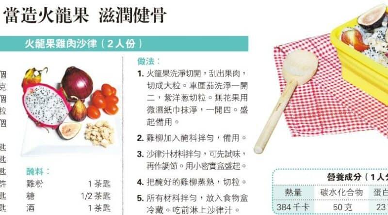 【中醫治療】煮得Smart之飯盒篇:當造火龍果 滋潤健骨