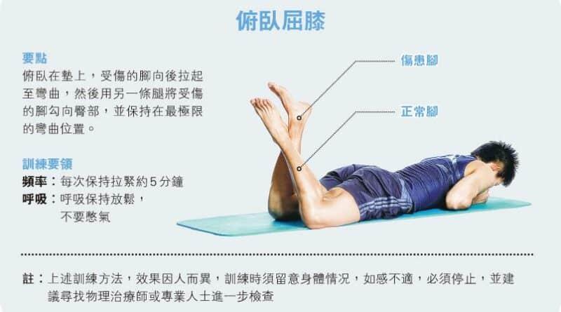 【運動消閒】好zone動:膝頭開刀復元 屈腿鍛煉關節