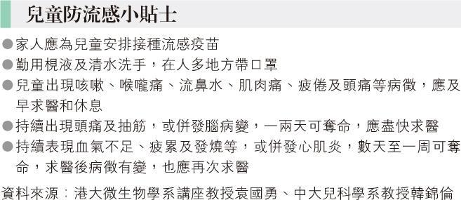 5歲童乙流併發腦病變 入院7小時亡 就讀幼園爆流感停課 袁國勇籲高危者打疫苗