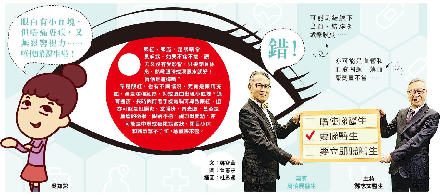 【有片:了解眼疾】唔使睇醫生?眼紅「自療」 唔使睇醫生?