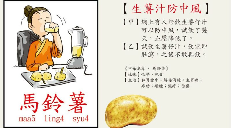 【營養要識】生薯汁防中風?小心寄生蟲入口