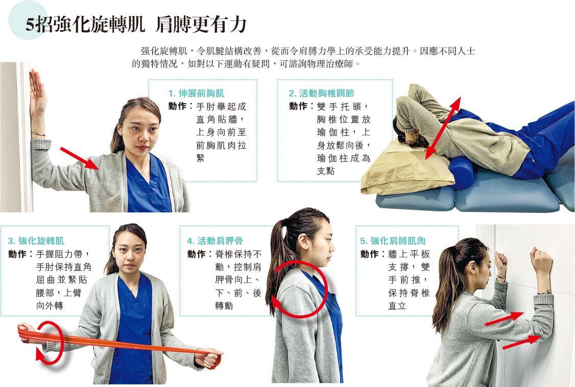 旋轉肌 rotator cuff 運動消閒 肩膊 肩膊痛 伸展運動 旋轉肌肌腱撕裂