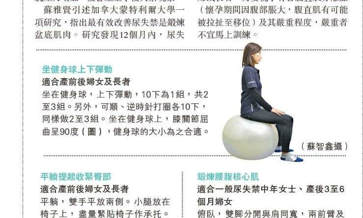 【有片睇】運動訓練:強化盆底肌 改善尿失禁