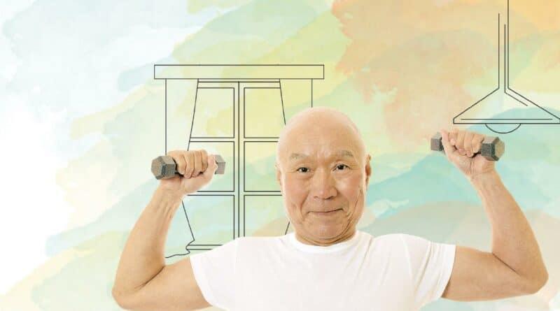 做gym非年輕人專利 長者版負重運動健骨強肌