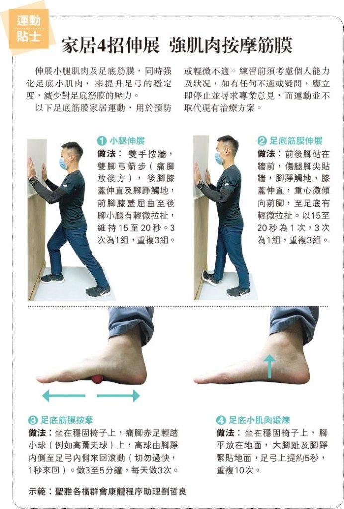 肥胖久站密密行 腳板底求救 足底筋膜炎 伸腿踩波紓緩
