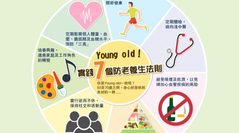 【Young Old健康】Young Old 防老養生有法 小改變生活模式  大改善預防老人病出現(附:7個防老養生法則)