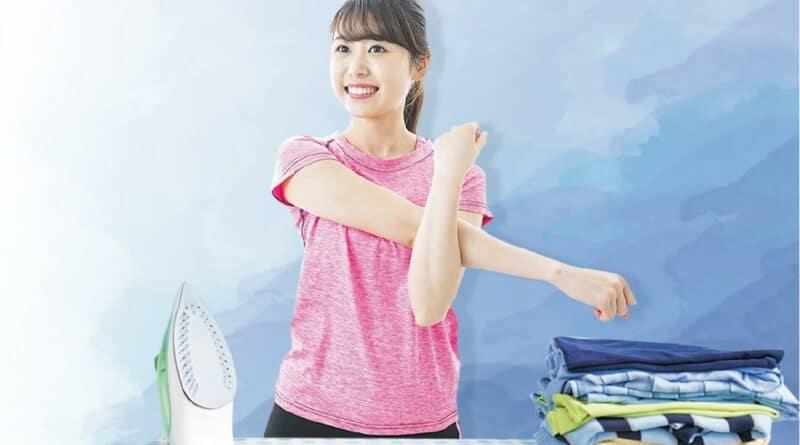 抹窗深蹲、摺衫練臀 做家務可健身 輕鬆減腩操肌