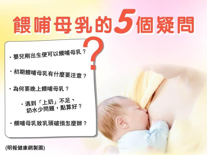 母乳Q&A|解答餵哺母乳時間、抱嬰兒姿勢、奶水不足、乳頭破損等5個疑問