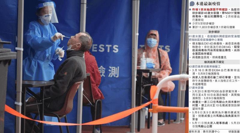 變種病毒患者曾到訪地點納強制檢測 流動採樣站服務地點(更新5月25日)