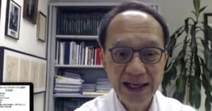 港大兒童及青少年科學系講座教授劉宇隆(Zoom截圖)