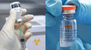 左:復必泰疫苗(法新社資料圖片)右:科興疫苗(法新社資料圖片)