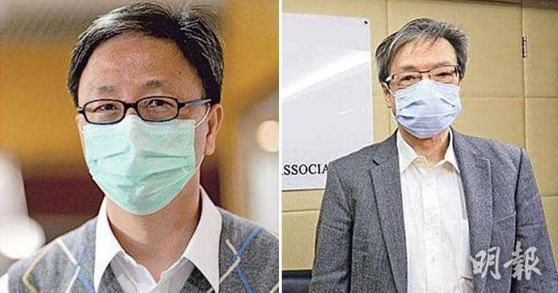 港大感染及傳染病中心總監何栢良(左)、呼吸系統專科醫生梁子超(右)(資料圖片)