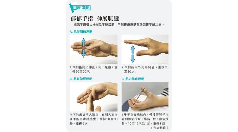 媽媽手?大拇指手腕痛楚兼乏力 物理治療師教4招手部復康運動助回復手部功能