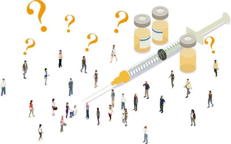 多方面考慮——專家認為,在決定何時為特定群組注射第三針疫苗時,應考慮接種疫苗種類、中和抗體水平高低、疫苗接種率等因素。(mathisworks@iStockphoto)